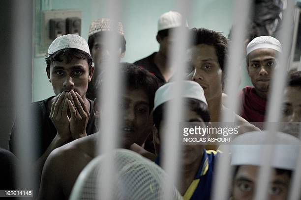 WITH 'ThailandMyanmarminoritiesreligionrefugeesFEATURE' by Daniel Rook This picture taken on February 14 2013 shows Muslim Rohingha asylum seekers...