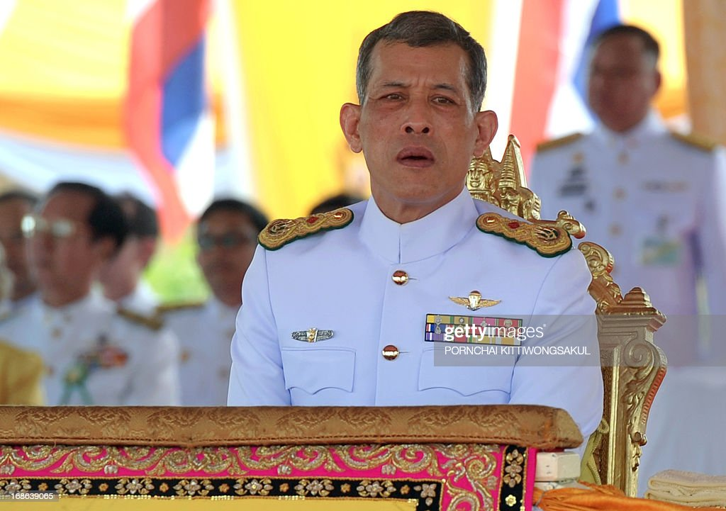 Thailand's Crown Prince Maha Vajiralongkorn attends the annual Royal Ploughing Ceremony, to mark the traditional beginning of the rice-growing season, at Sanam Luang in Bangkok on May 13, 2013. Based on what sacred oxen ate during the ceremony, court astrologers and seers predicted a good harvest, an abundance of food and plentiful water.
