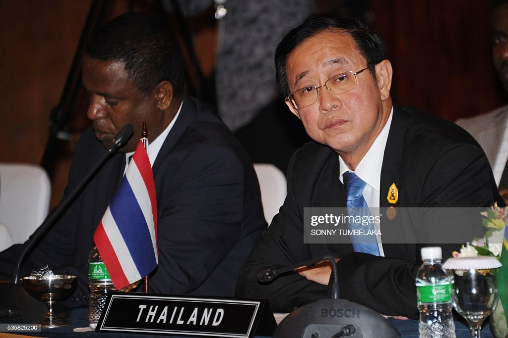 Thailand's Minister of Transporation Arkhom Termpittayapaisith attends the Transportation Ministerial Meeting of Developing Countries on Indonesia's resort island of Bali on May 30, 2016. The Transportation Ministerial Meeting of Developing Countries is being held in Bali from May 30-31. / AFP / SONNY