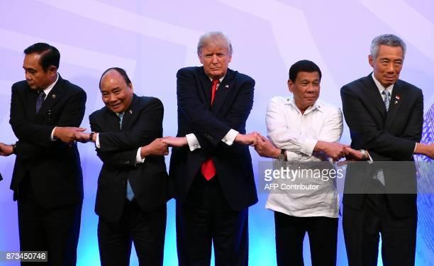 Thailand's Prime Minister Prayut ChanOCha Vietnam's Prime Minister Nguyen Xuan Phuc US President Donald Trump Philippine President Rodrigo Duterte...