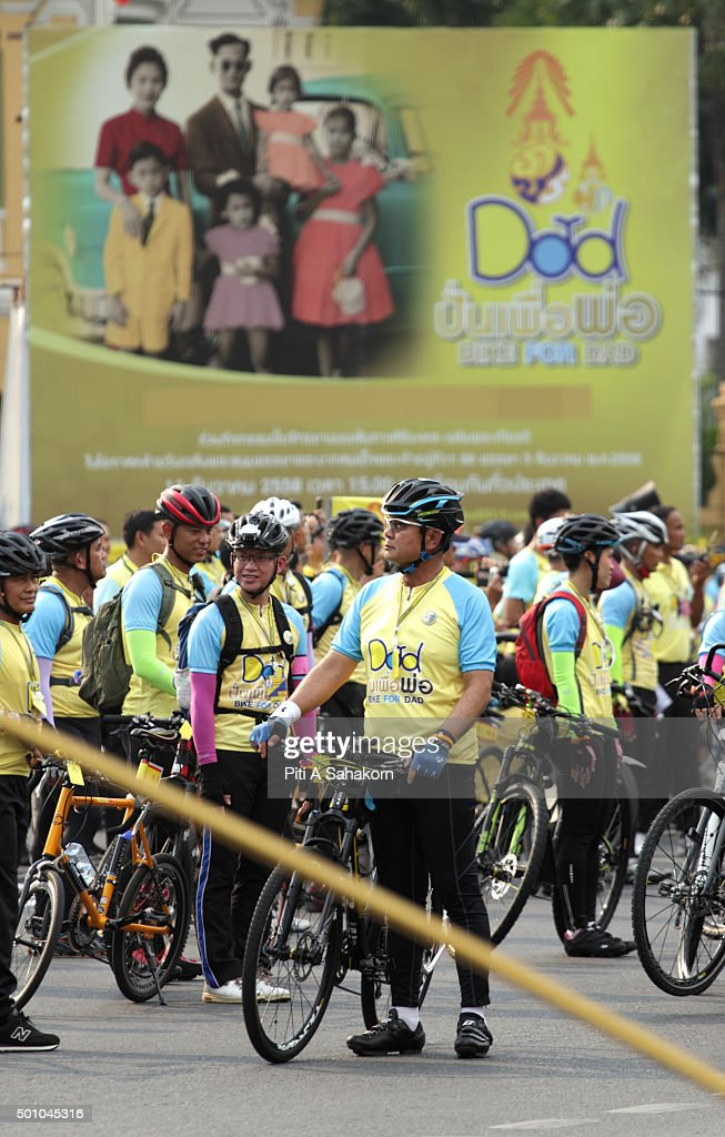 Thailand's Prime Minister Prayuth Chan-ocha takes part in the 'Bike for Dad' event in Bangkok. Thai Crown Prince Maha Vajiralongkorn led thousands of cyclists on a 29-km course in Bangkok to celebrate King Bhumibol Adulyadej's 88th birthday.