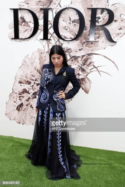 Thailand's Princess Sirivannavari Nariratana poses during the photocall before Christian Dior 2017 fall/winter Haute Couture collection show in Paris...