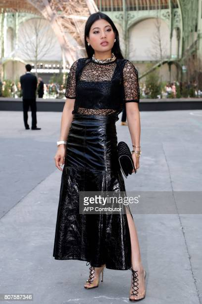 Thailand's Princess Sirivannavari Nariratana poses during the photocall before Chanel 20172018 fall/winter Haute Couture collection show in Paris on...