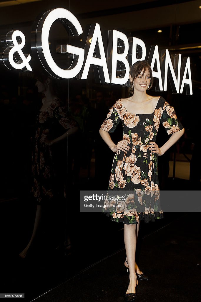 Thairine Garcia attends the Dolce&Gabbana cocktail party on April 9, 2013 in Sao Paulo, Brazil.