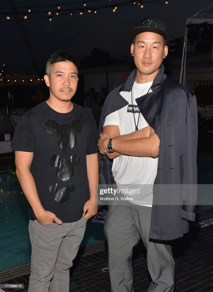 Thakoon (L) and Richard Chai attend Soho House New York's 10th birthday celebration with a live performance by Mumford and Sons on the roof top at Soho House on August 22, 2013 in New York City.