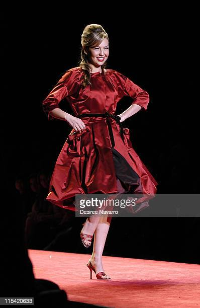 Thalia at Heart Truth Red Dress during Olympus Fashion Week Fall 2006 'Heart Truth Red Dress' Runway at The Tent Bryant Park in New York New York...