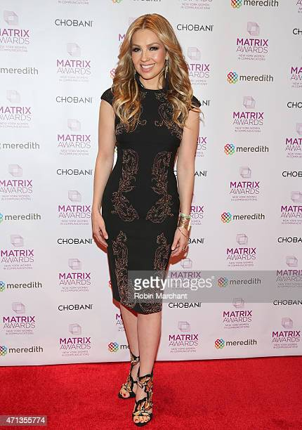Thalia attends 2015 Matrix Awards at The Waldorf=Astoria on April 27 2015 in New York City