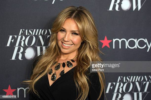 Thalia attends Macy's Presents Fashion's Front Row during Spring 2016 New York Fashion Week at The Theater at Madison Square Garden on September 17...