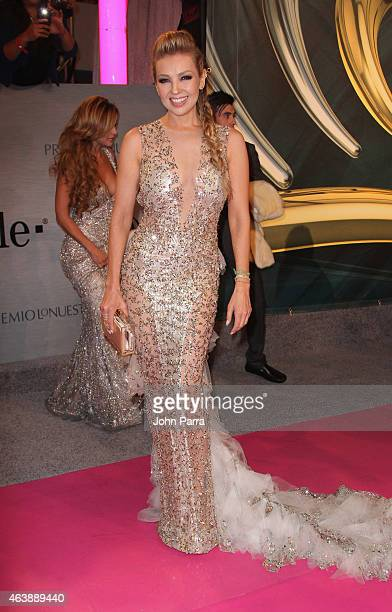 Thalia attends the 2015 Premios Lo Nuestros Awards at American Airlines Arena on February 19 2015 in Miami Florida