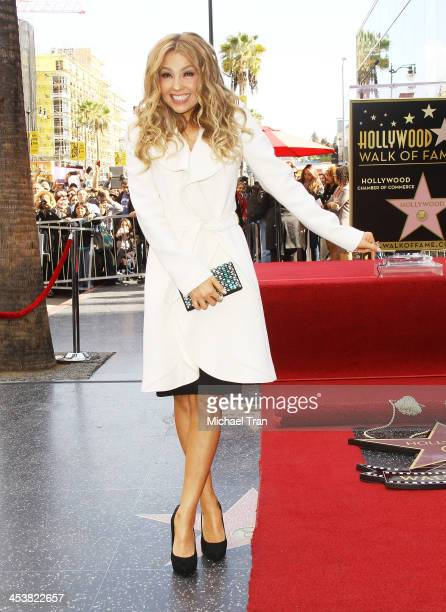 Thalia attends the ceremony honoring her with a Star on The Hollywood Walk of Fame held on December 5 2013 in Hollywood California