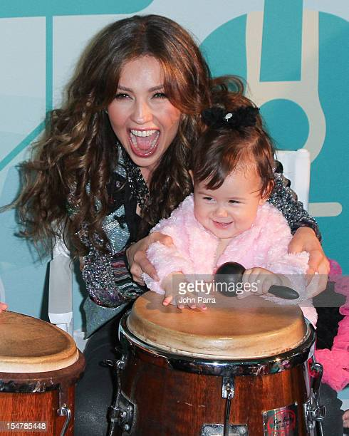 Thalia attends the Pampers My Music My Heritage at New World Symphony on October 25 2012 in Miami Beach Florida