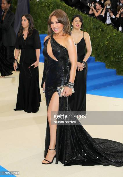Thalia attends the 'Rei Kawakubo/Comme des Garcons Art Of The InBetween' Costume Institute Gala at Metropolitan Museum of Art on May 1 2017 in New...