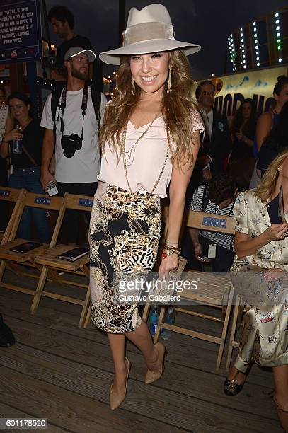 Thalia attends the #TOMMYNOW Women's Fashion Show during New York Fashion Week at Pier 16 on September 9 2016 in New York City
