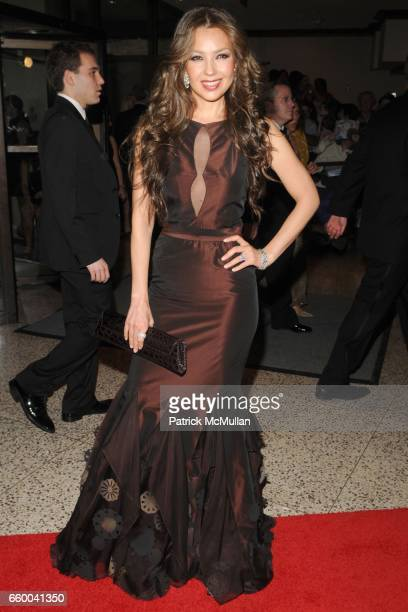 Thalia attends the White House Correspondents' Dinner Arrivals at the Washington Hilton on May 9 2009 in Washington DC