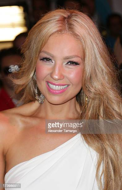 Thalia attends Univision's Premios Juventud 2013 at Bank United Center on July 18 2013 in Miami Florida