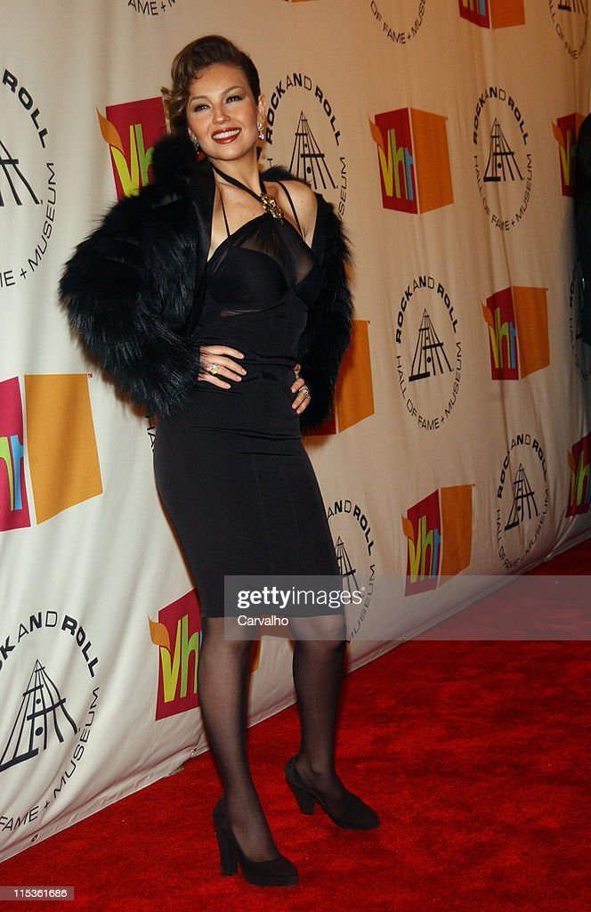 Thalia during 20th Annual Rock and Roll Hall of Fame Induction Ceremony - Arrivals at Waldorf Astoria Hotel in New York City, New York, United States.