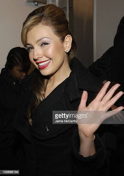 Thalia during Olympus Fashion Week Fall 2006 'Heart Truth Red Dress' Backstage at Bryant Park in New York City New York United States