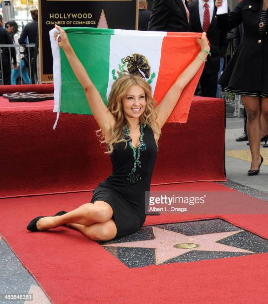 Thalia is honored on The Hollywood Walk of Fame on December 5 2013 in Hollywood California