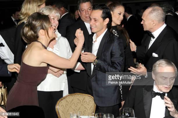 Thalia Mottola Veronica Kelly Marc Anthony Jennifer Lopez Commissioner Raymond Kelly and Sir Harry Evans attend NEW YORK CITY POLICE FOUNDATION 32nd...