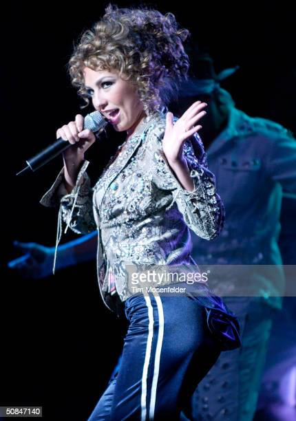 Thalia performing part of her 'High Voltage Tour 2004' at the San Jose Center for Performing Arts on May 16 2004 in San Jose California