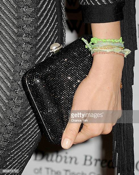 Thalia purse detail attends 5th Annual Dubin Breast Center at Mount Sinai Benefit at Mandarin Oriental Hotel on December 7 2015 in New York City
