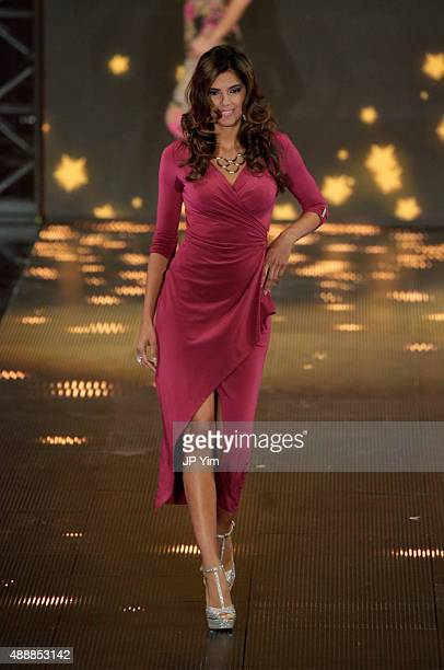Thalia Sodi Collection on the runway at Macy's Presents Fashion's Front Row at The Theater at Madison Square Garden on September 17 2015 in New York...