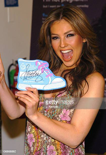 Thalia Sodi during Thalia Sodi And Kmart Team Up To Raise Money For The March Of Dimes March 21 2006 at Kmart Penn Plaza in New York City New York...