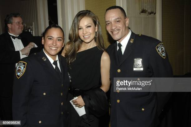Thalia w/ NYPD attends NEW YORK CITY POLICE FOUNDATION 31st Annual Gala at Waldorf Astoria on March 3 2009 in New York City