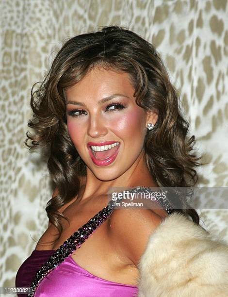 Thalia wearing Roberto Cavalli during Roberto Cavalli Hosts a Preview Gala for the Metropolitan Museum's 'WILD Fashion Untamed' Arrivals at The Great...