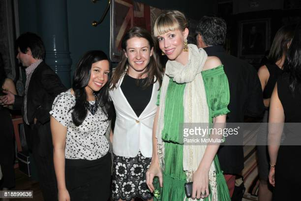 Thalia Yanuar Zoe Settle and Virginia Tupker attend The RUG COMPANY Unveils New Showroom Cocktail Party at The Rug Company on May 17 2010 in New York...