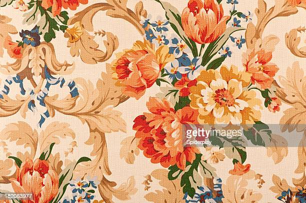 Thames Floral Close Up Antique Fabric
