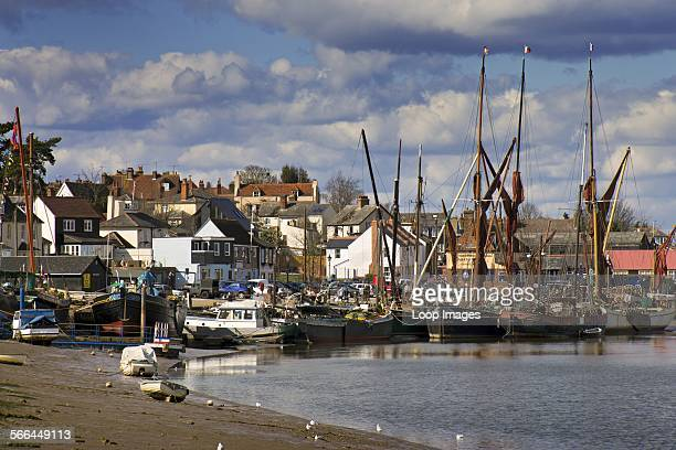 Thames sailing barges moored in their home port of Maldon on the Blackwater estuary