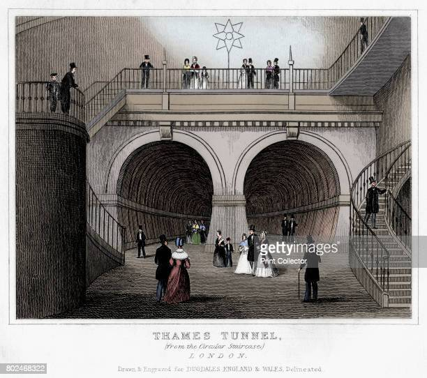 Thames Tunnel London 19th century The Thames Tunnel from Rotherhithe to Wapping was the most remarkable undertaking by the engineer and inventor Sir...