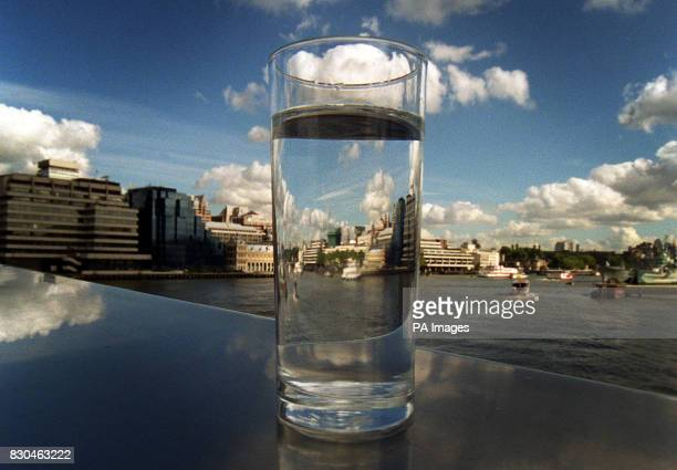 Thames Water A glass of water stands on a bridge over the River Thames in London after the British water utility Thames Water confirmed that it has...
