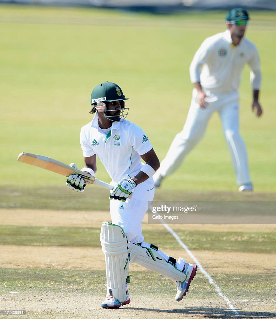 Thami Tsolekile of South Africa A during day 3 of the 1st Test match between South Africa A and Australia A at Tuks Oval on July 26, 2013 in Pretoria, South Africa.