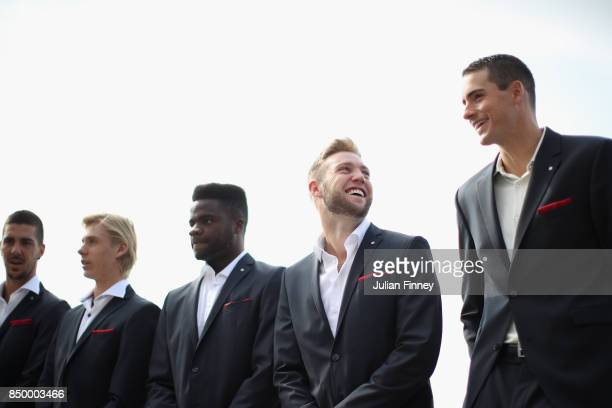Thanasi Kokkinakis of Australia Denis Shapovalov of Canada Frances Tiafoe of United States Jack Sock of United States and John Isner of United States...