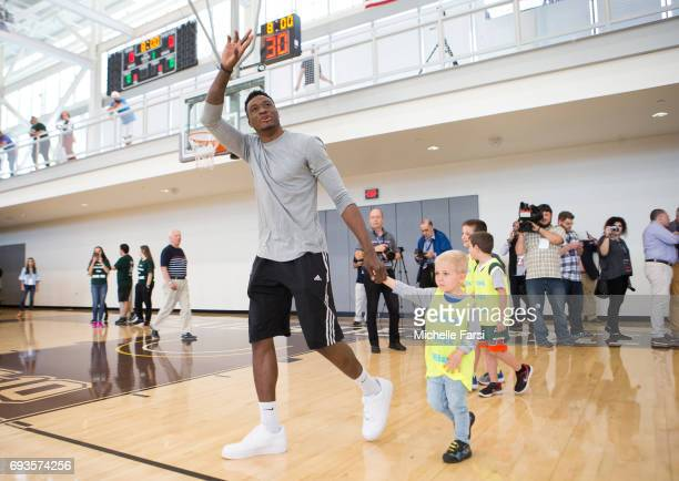 Thanasis Antetokounmpo hosts a 'Greek Freak Week' basketball clinic at Adelphi University featuring a lineup of former and current basketball stars...