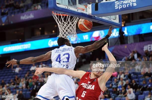 Thanasis Antetokounmpo of Greece Aaron Cel of Poland during the FIBA Eurobasket 2017 Group A match between Greece and Poland on September 6 2017 in...