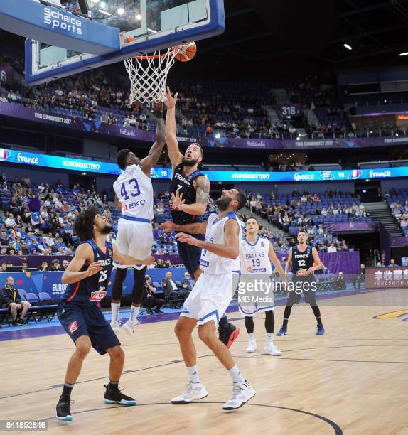 Thanasis Antetokounmpo of Greece Joffrey Lauvergne France during the FIBA Eurobasket 2017 Group A match between Greece and France on September 2 2017...