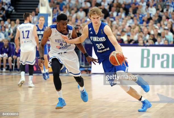 Thanasis Antetokounmpo of Greece Lauri Markkanen of Finland during the FIBA Eurobasket 2017 Group A match between Greece and Finland on September 5...