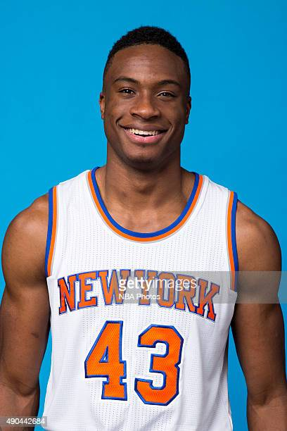 Thanasis Antetokounmpo of the New York Knicks poses for a head shot at media day at the MSG Training Facility in Greenburgh New York on September 28...