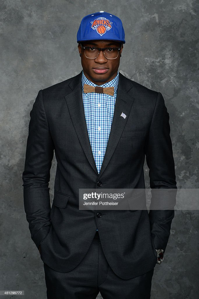 <a gi-track='captionPersonalityLinkClicked' href=/galleries/search?phrase=Thanasis+Antetokounmpo&family=editorial&specificpeople=11679179 ng-click='$event.stopPropagation()'>Thanasis Antetokounmpo</a>, the 54th pick overall by the New York Knicks, poses for a portrait during the 2014 NBA Draft at the Barclays Center on June 26, 2014 in the Brooklyn borough of New York City.
