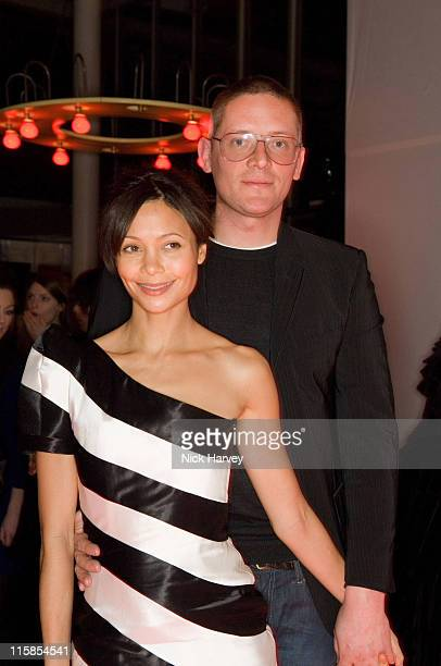 Thandie Newton and Giles Deacon during Mulberry For Giles Bags Launch Party Inside Arrivals at Harvey Nichols in London Great Britain