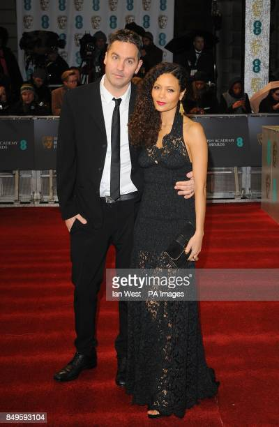 Thandie Newton and Ol Parker arriving for the 2013 British Academy Film Awards at the Royal Opera House Bow Street London