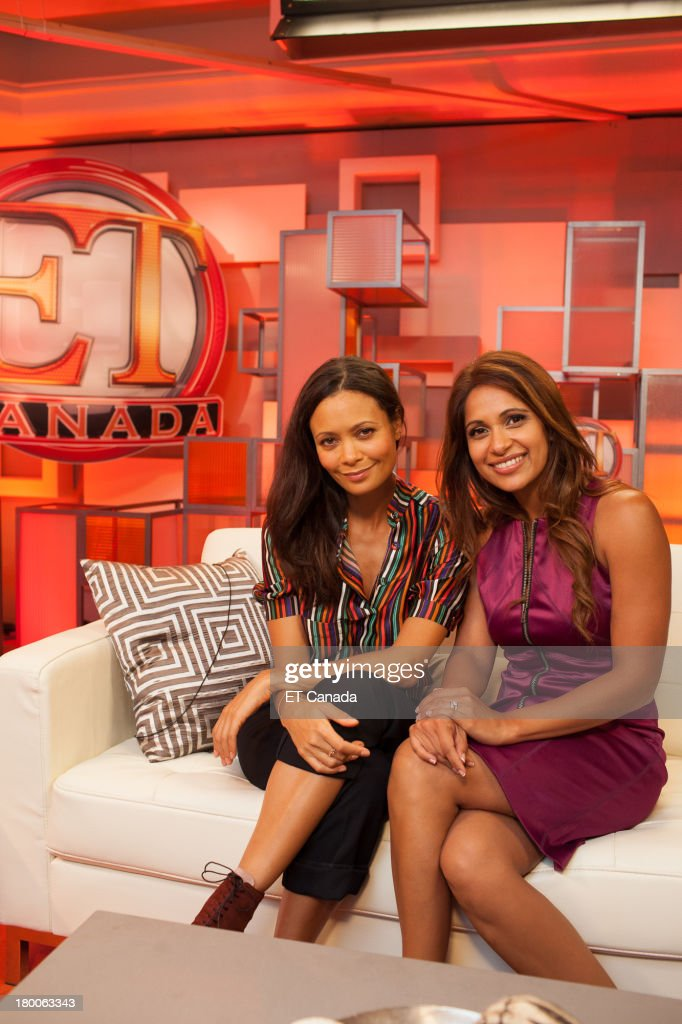Thandie Newton and Sangita Patel in the ET Canada Festival Central Lounge at the 2013 Toronto International Film Festival on September 8 2013 in...