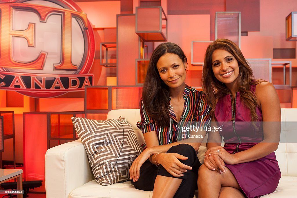 <a gi-track='captionPersonalityLinkClicked' href=/galleries/search?phrase=Thandie+Newton&family=editorial&specificpeople=210812 ng-click='$event.stopPropagation()'>Thandie Newton</a> (L) and Sangita Patel in the ET Canada Festival Central Lounge at the 2013 Toronto International Film Festival on September 8, 2013 in Toronto, Canada.