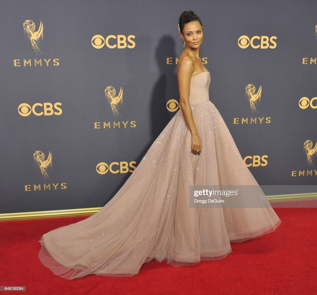 Thandie Newton arrives at the 69th Annual Primetime Emmy Awards at Microsoft Theater on September 17, 2017 in Los Angeles, California.