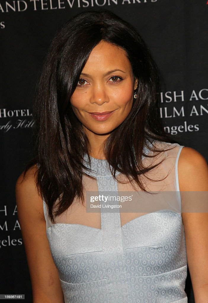 <a gi-track='captionPersonalityLinkClicked' href=/galleries/search?phrase=Thandie+Newton&family=editorial&specificpeople=210812 ng-click='$event.stopPropagation()'>Thandie Newton</a> arrives at the BAFTA Los Angeles 2013 Awards Season Tea Party held at the Four Seasons Hotel Los Angeles on January 12, 2013 in Los Angeles, California.