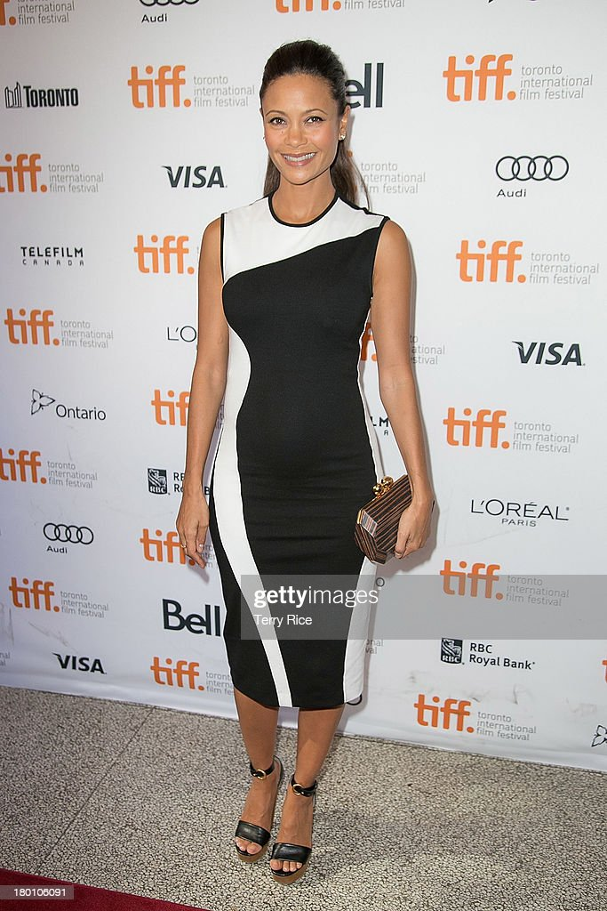 Thandie Newton arrives at the 'Half Of A Yellow Sun' premiere during the 2013 Toronto International Film Festival held at Winter Garden Theatre on...