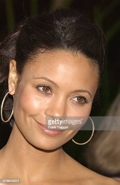 Thandie Newton arrives at the premiere of 'The Chronicles of Riddick'